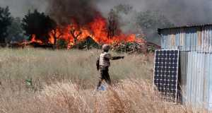 Boko Haram terrorists set farm produce on fire
