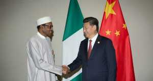 President Buhari in a Bilateral Meeting with H.E. XI Jinping, President, People's Republic of China at the sidelines of the Johannesburg Summit of Forum on China-Africa Cooperation in South Africa on 4th Dec 2015