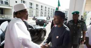 Buhari and Osinbajo after the budget presentation