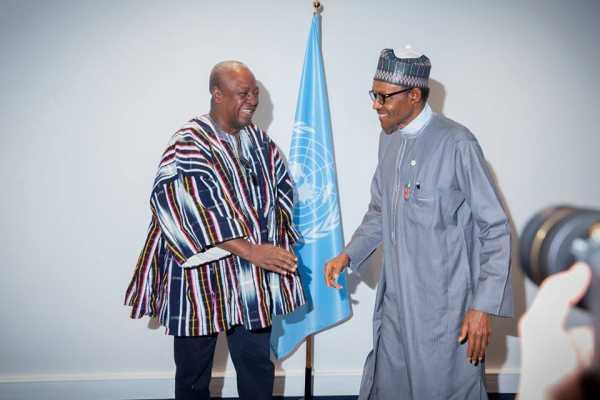 Buhari and President Mahama of Ghana