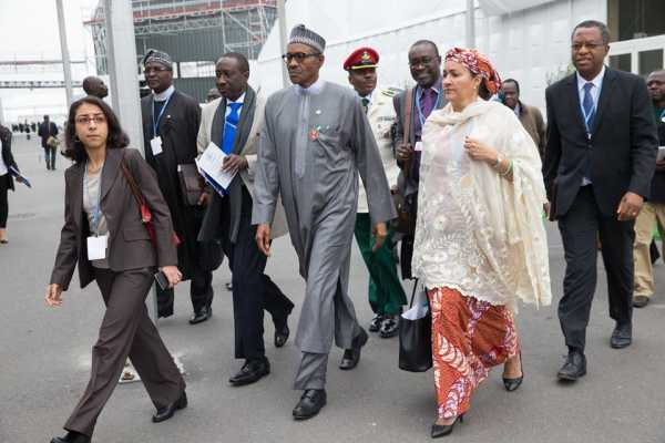 Buhari and delegates to the Climate Change Conference