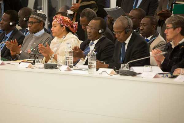 Buhari and other World leaders at the Climate Change Conference in Paris