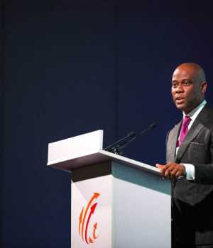 Herbert Owigwe, MD/CEO, Access Bank Plc, delivering his welcome address