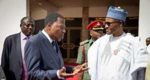 President Boni Yayi of Benin Republic and President Muhammadu Buhari