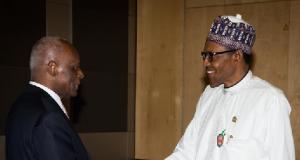 President Buhari and Jose Eduardo dos Santos, of Angola