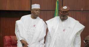 Saraki and Dogara during the President's budget presentation