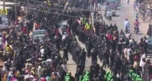 Shi'ite members protesting