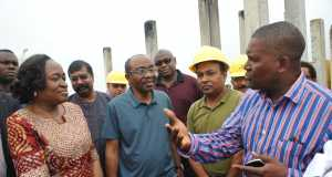 Deputy Governor of CBN, Economic Policy, Sarah Alade, Group Executive Director, Dangote Group, Devackumar Edwin, CBN Governor, Mr. Godwin Emefiele, listening to the President of Dangote Group, Aliko Dangote during the inspection of the Dangote Refinery and Fertilizer Plant, by the CBN officials on SundayDeputy Governor of CBN, Economic Policy, Sarah Alade, Group Executive Director, Dangote Group, Devackumar Edwin, CBN Governor, Mr. Godwin Emefiele, listening to the President of Dangote Group, Aliko Dangote during the inspection of the Dangote Refinery and Fertilizer Plant, by the CBN officials on Sunday