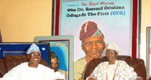 Gov. Ajimobi and late Olubadan