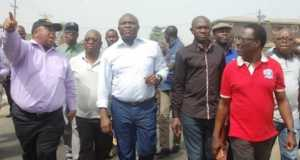 Gov. Ambode inspecting one of the construction sites in Lagos