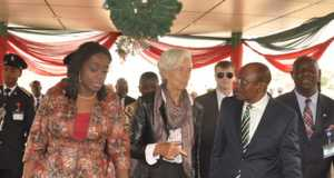 Nigeria's Finance Minister, Kemi Adeosun,IMF boss, Christine Lagarde and CBN Governor, Godwin Emefiele