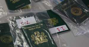 Nigerian passports of syndicate