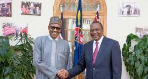 President Buhari and Uhuru Kenyatta of Kenya