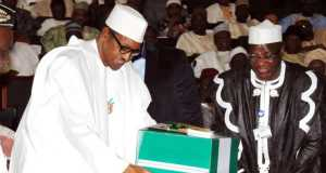 President-Muhammadu-Buhari-laying-the-box-before-a-joint-session-of-the-National-AssemblyPresident-Muhammadu-Buhari-laying-the-box-before-a-joint-session-of-the-National-Assembly