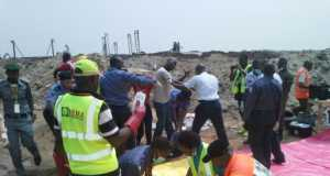 Simulation of rescue operation in the event of a plane crash in Lagos