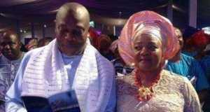 Stephen Keshi and his late wife, Kate