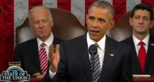 U.S President Barack Obama during his last State of the Union Address