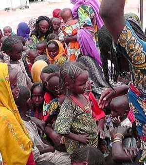 Children in Borno IDPs camp
