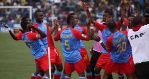 DR Congo players celebrate CHAN 2016 victory