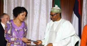 Hon. Chi Onwurah and President Buhari
