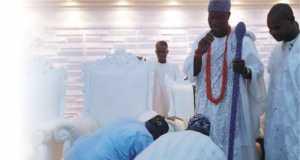 Alafin of Oyo, Oba Lamidi Adeyemi, the Awujale of Ijebu-Ode, Oba Sikiru Adetona