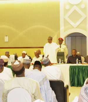 President Buhari addressong gathering of Nigerians in Riyyad, Saudi Arabia