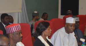 Senators Rabiu Kwankwaso, Rose Oko and Saraki at CSOs interaction