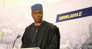 Saraki at the Social Media Week event in Lagos