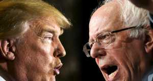 Donald Trump and Sanders