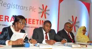 Directors of Africa Prudential Registrars at one of their AGMs