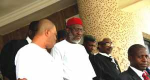 Chief-Olisa-Metuh after court sitting in Abuja