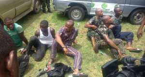Gov. Wike's aide and other arrested fake soldiers