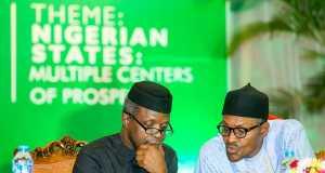 Osinbajo and Buhari at the National Economic Council summit