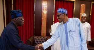 Tinubu and Buhari at APC meeting