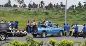 Accident scene where 6 Ekiti doctors lost their lives