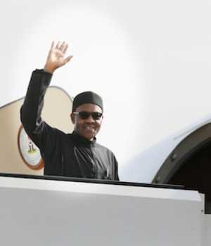 Buhari jets out