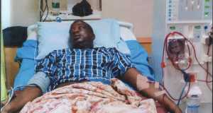 Goke Adewinle on his sick bed