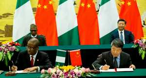 Presidents Buhari, Xi Jimping and their foreign Affairs Ministers