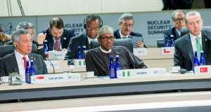 President Buhari(m) and other World Leaders at the ongoing 4th Nuclear Security Summit
