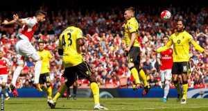 Arsenal rout Villa to second Premier League