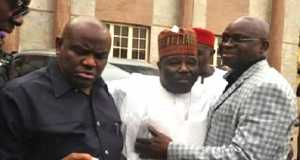 Gov. Nyesom Wike, Ali Modu-Sheriff and Ayo-Fayose-