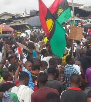 Pro-Biafra protesters
