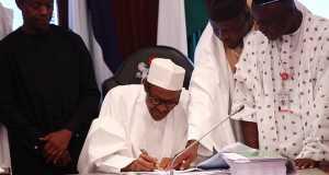 Buhari signs 2016 budget