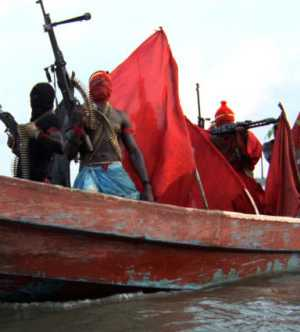 Militants in speed boat