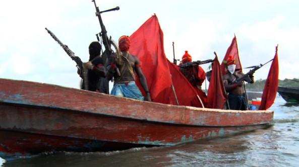 Militants in speed boat