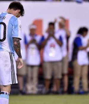 Disappointed Messi