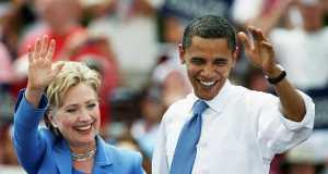 Hillary Clinton and Obama