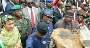 Vice President Yemi Osinbajo ant the formal launch of Ogoni cleanup