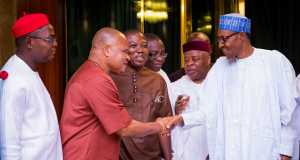 South East leaders with President Buhari