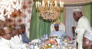 President Buhari breaks fast with FEC members